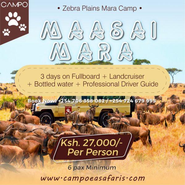 Maasai Mara 2 Nights Luxury Tented Camp